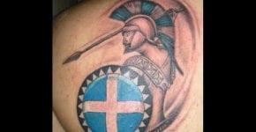 Spartan soldier tattoo