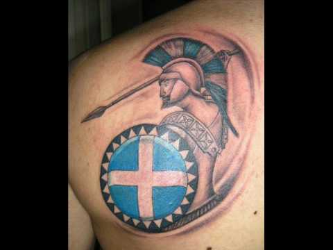 Spartan soldier tattoo