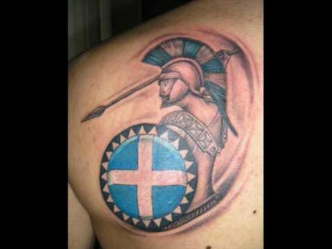 Taatuaje soldado espartano