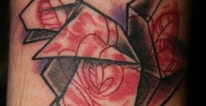 Tatuaje ardilla de origami