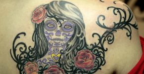 Mexican skull tattoo