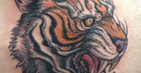 Tigger tattoo on the back