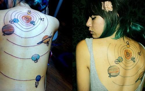 Tatuaje del sistema solar
