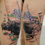 Tatuaje corazón de tetris