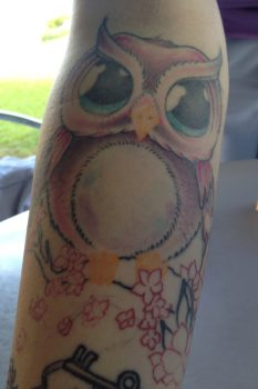Cute owl tattoo