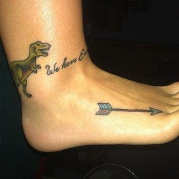 Tatuajes en el pie de mujeres
