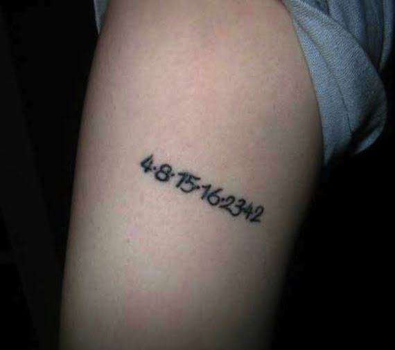 Lost lucky numbers tattoo