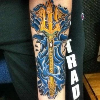 Tatuaje del Tridente de Poseidón