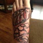 Tatuaje de escorpión negro