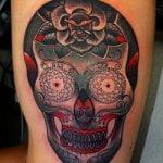 Tatuaje Dalek color azul