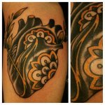 Tatuaje abstracto en la cabeza