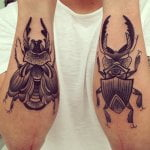 Tatuaje pez en el abdomen