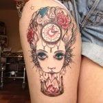 Tatuaje de pulpo en abdomen