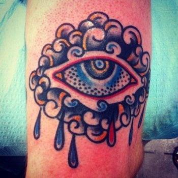 Tatuaje ojo en el brazo