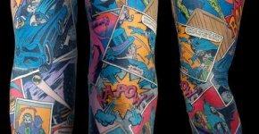 Tatuaje Batman Sleeve en el brazo