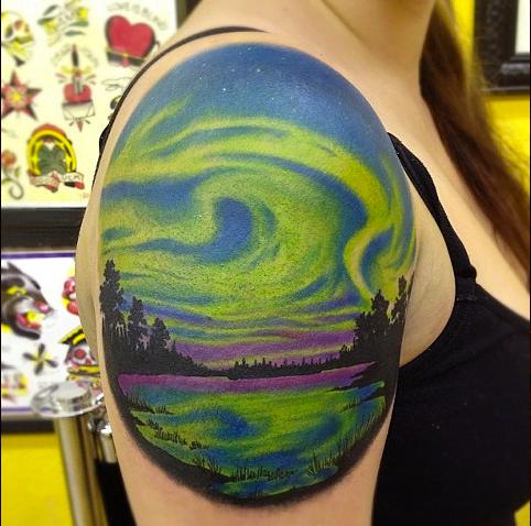 Aurora boreal (tatuaje)