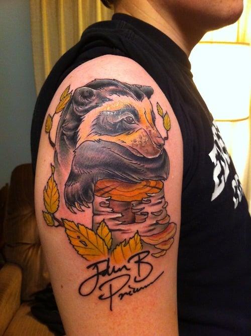 Tatuaje de tejón