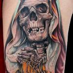 Tatuaje de pulpo con calavera