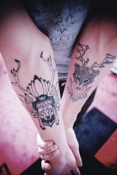 Tatuaje Totems indios