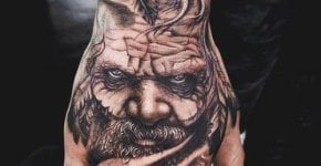 Tatuaje anciano indio