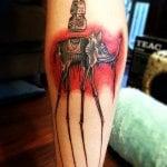 Tatuaje de medusa multicolor