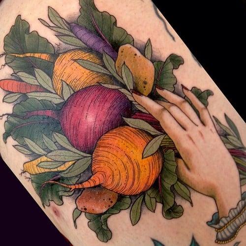 Tatuaje rábanos