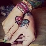 Tatuaje de nube tormentosa