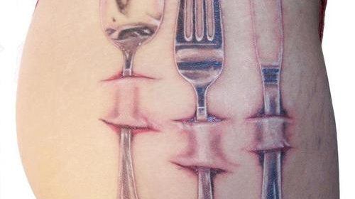 Tatuaje de medusa de colores