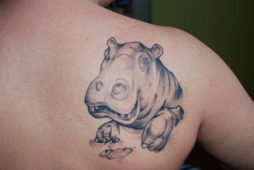 Tatuaje hipopotamo