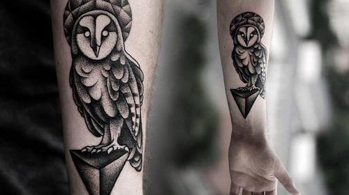 Tatuaje de cuervo