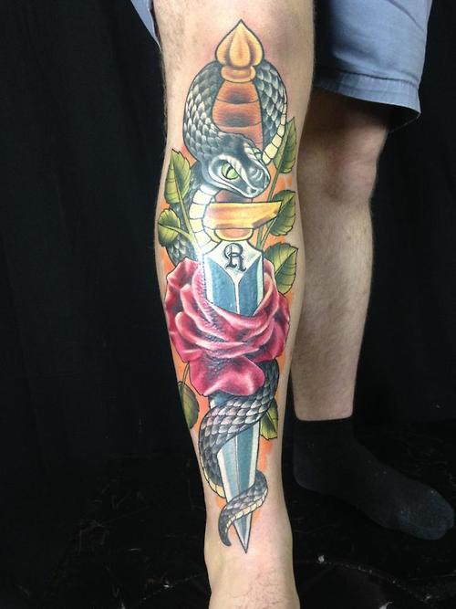 Tatuaje Cobra negra