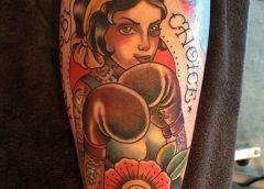 Tatuaje boxeadora