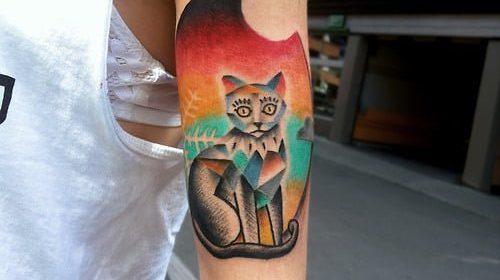 Tatuaje de rata elegante