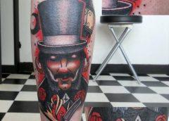 Tatuaje hombre con sombrero