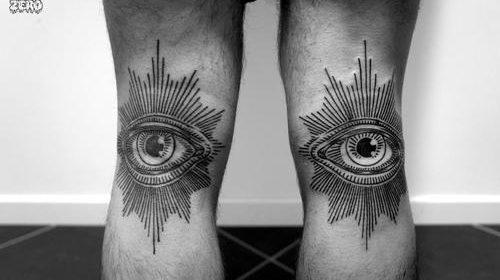 Tatuaje de paisaje nocturno