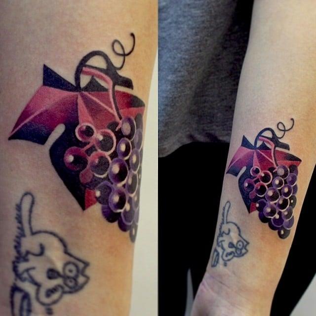 Tatuaje uvas