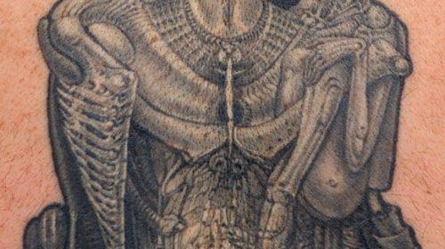 Tatuaje de  zorro en la espalda