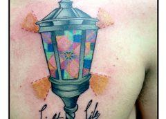 Tatuaje farol texto