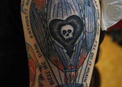 Tatuaje globo oscuro