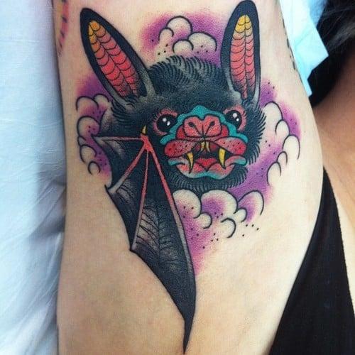 Tatuaje murciélago