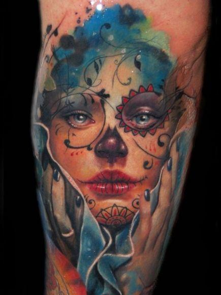Tatuaje calavera azúcar