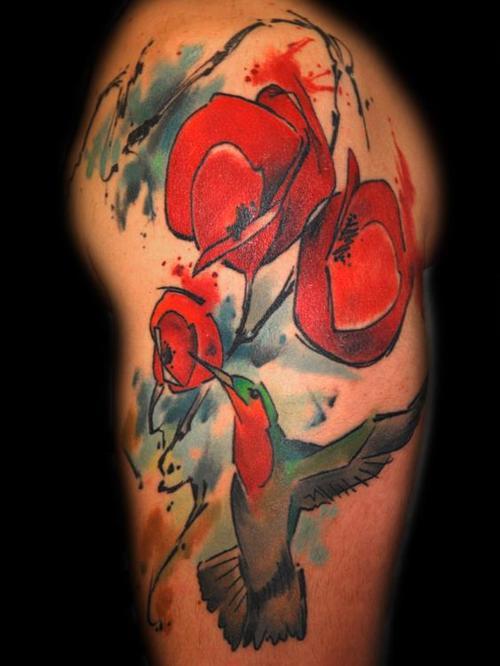 Tatuaje colibrí