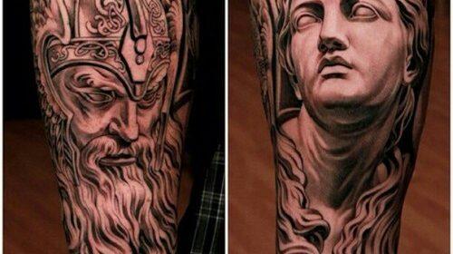 Tatuaje de pulpo gris