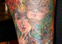 Tatuaje disfraz veneciano