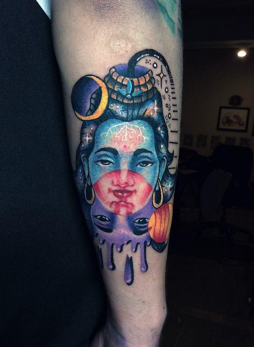 Tatuaje diosa india