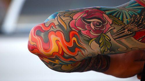 Tatuaje de retrato con esqueleto