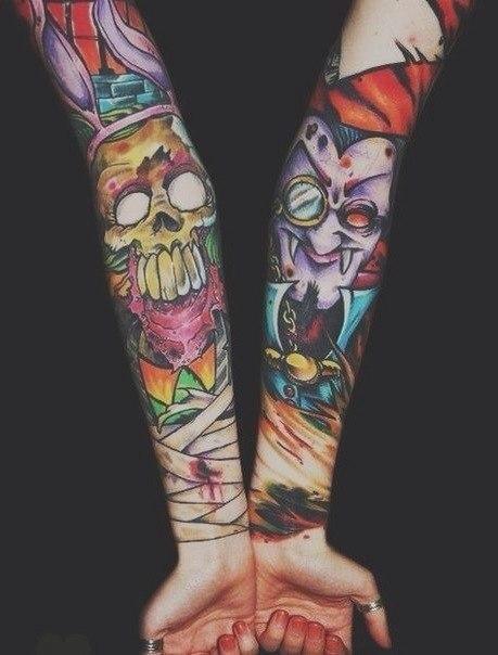 Tatuajes terror brazos