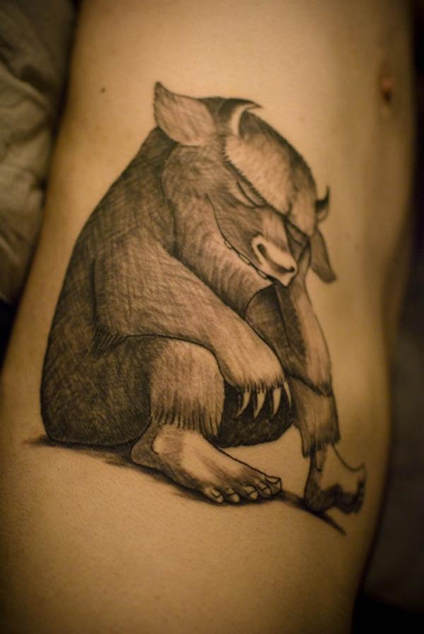 Tatuaje Donde viven los monstruos