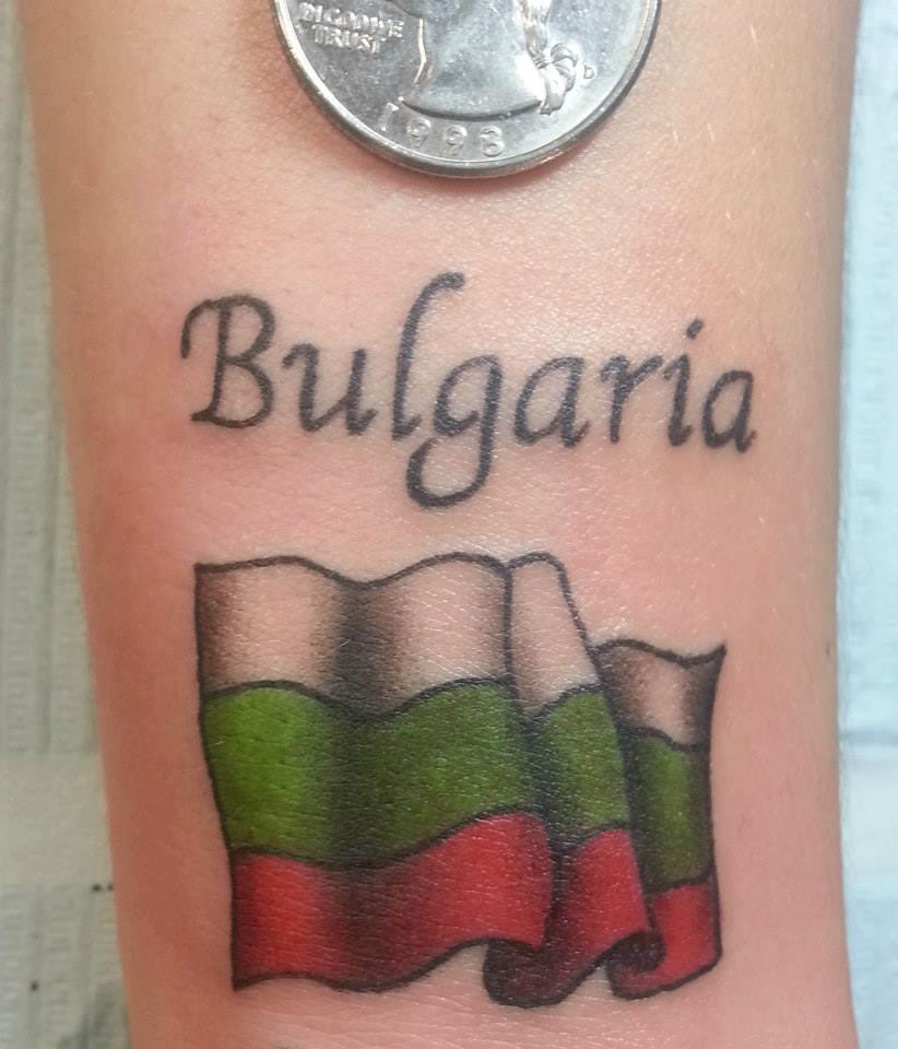 Tatuaje bandera Bulgaria