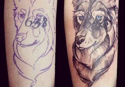 Tatuaje de gato vampiro